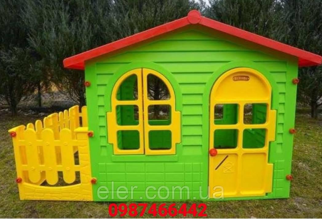 Детские игровие площадки .  Дитячий будиночок з терасою