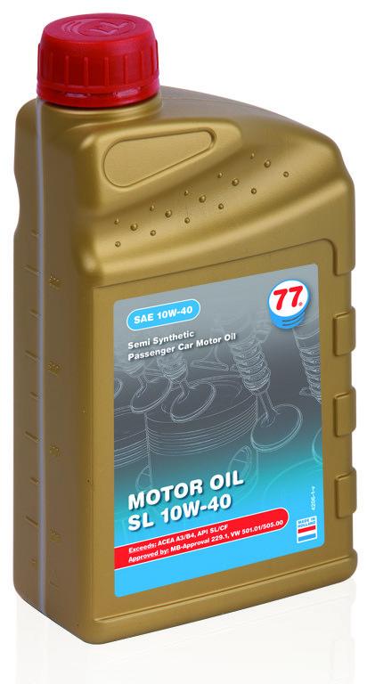 Motor Oil SL 10W-40 полусинтетическое