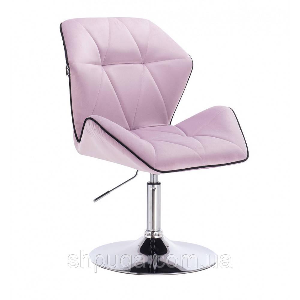 Кресло  косметическое  HR212 вереск велюр , диск .