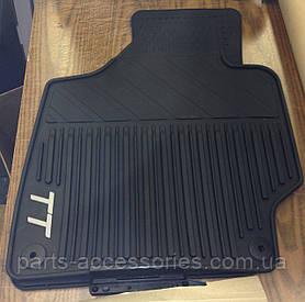 AUDI TT 8J 2006-14 коврики напольные резиновые черные новые оригинал