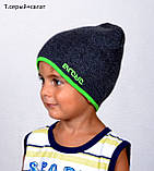 Шапка детская демисезонная для мальчиков и девочек разных цветов, фото 10