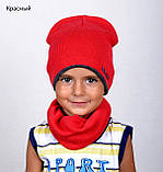 Шапка детская весенняя, Цвет Серый + лимон, Размер 48-52, фото 9