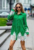 Платье-рубашка / лен  / Украина 19-9286, фото 1