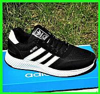 Кроссовки Мужские Adidas Iniki Runner Boost Чёрные Адидас (размеры: 40,41,42) Видео Обзор