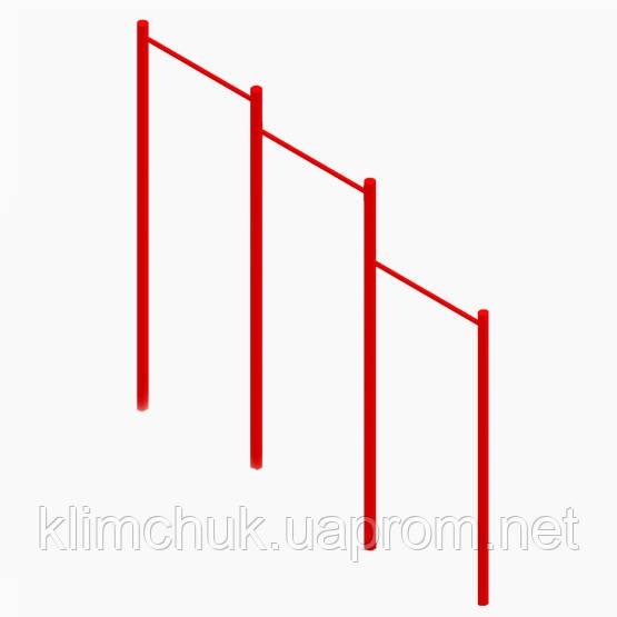 Гімнастичний елемент Турнік трьохрівневий для спортивних майданчиків KidSport