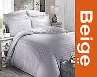 Комплект постельного белья 100% хлопок (сатин) цвет серый, размер Евро