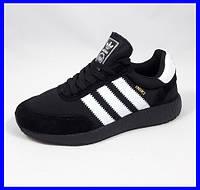Кроссовки Мужские Adidas Iniki Runner Boost Чёрные Адидас (размеры: 41) Видео Обзор