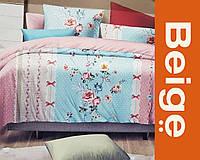 Комплект постельного белья в деревянной шкатулке 100% хлопок (сатин), цвет орнамент, размер Евро