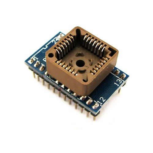 PLCC28 - DIP24 переходник, панелька для микросхем