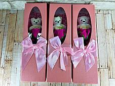 Букет из роз мыло в подарочной коробке Розовый ( подарочный набор на 8 марта ), фото 2