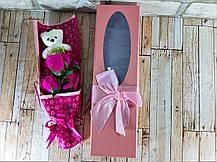 Букет из роз мыло в подарочной коробке Розовый ( подарочный набор на 8 марта ), фото 3