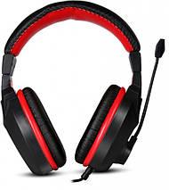 Игровые наушники с микрофоном Marvo H8321P Black-Red, длина кабеля 2 метра, фото 2