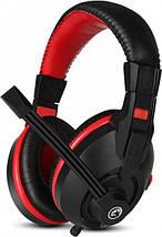 Игровые наушники с микрофоном Marvo H8321P Black-Red, длина кабеля 2 метра, фото 3