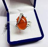 Кольцо с большим камнем сердолик серебро Филадельфия, фото 3