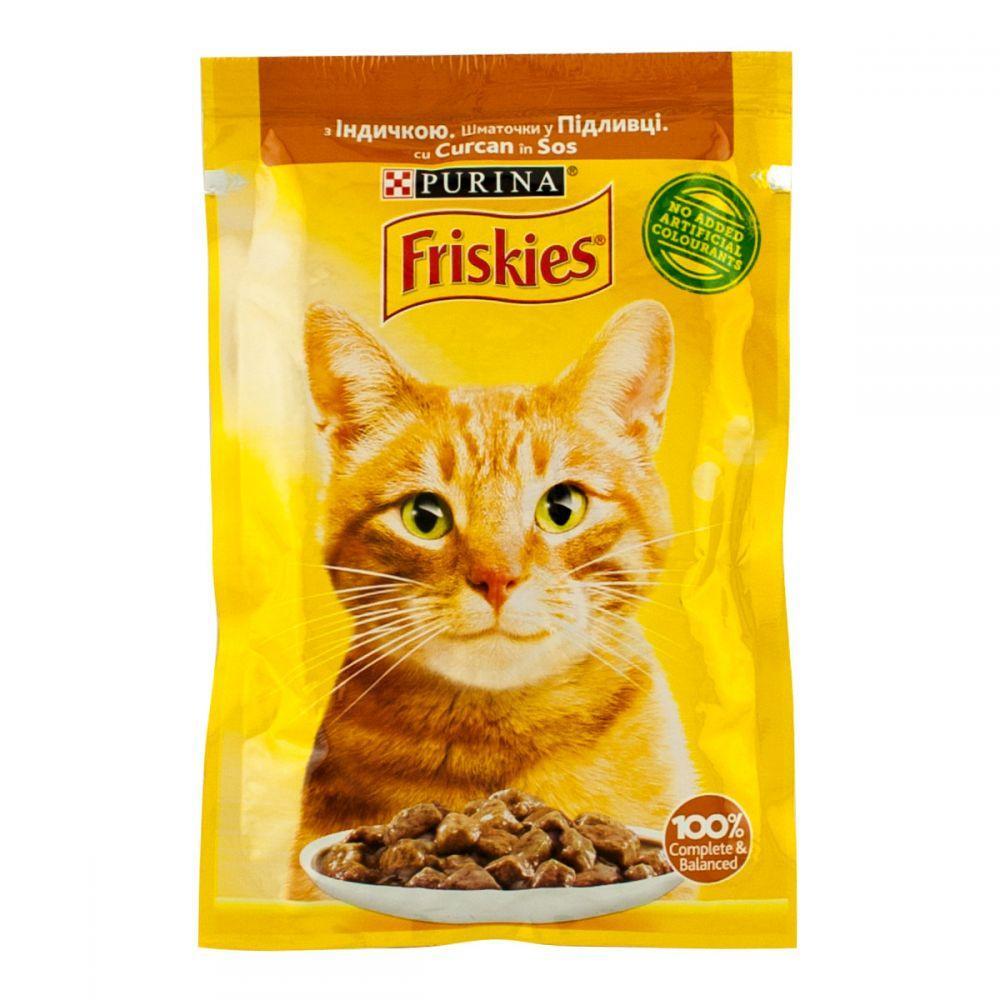 Purina Friskies Корм для котов и кошек. Индейка в подливе, 85гр