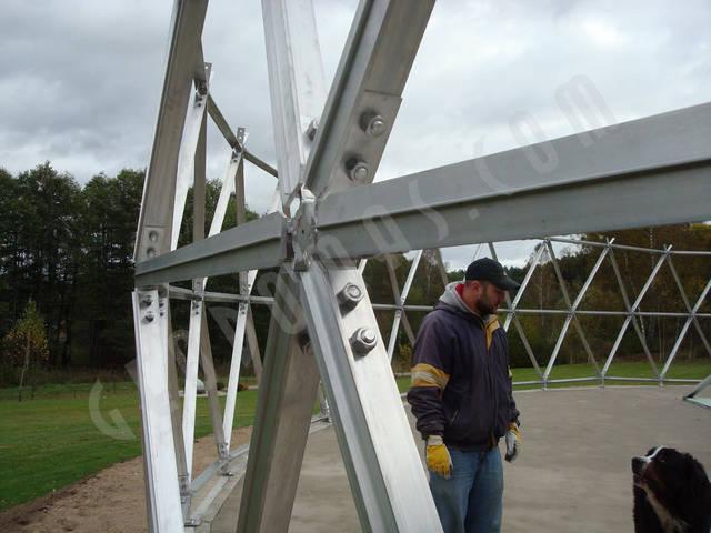 Защитный купол F8 для 14-метровой пирамиды 10