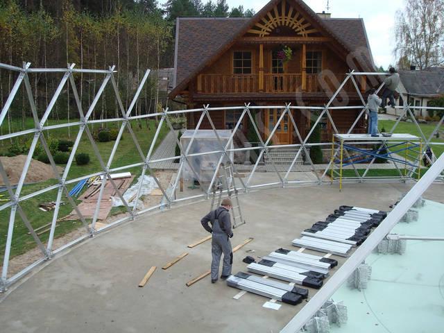 Защитный купол F8 для 14-метровой пирамиды 13
