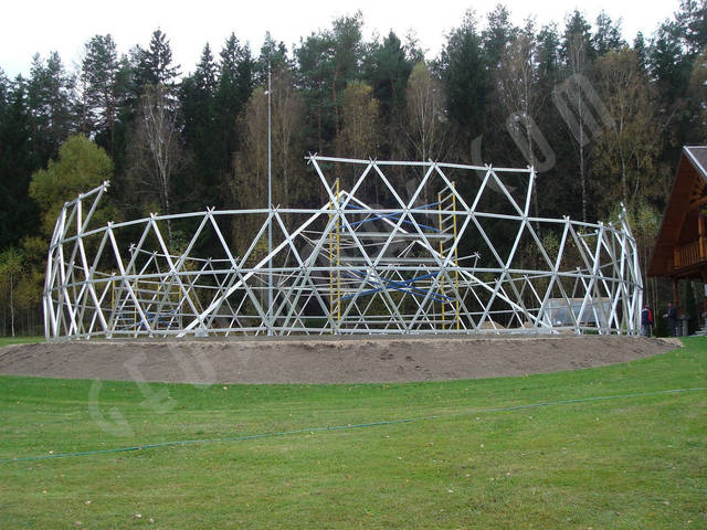 Защитный купол F8 для 14-метровой пирамиды 15