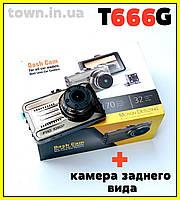 Видеорегистратор Blackbox DVR на 2 камеры T666G Full HD 1080P, фото 1
