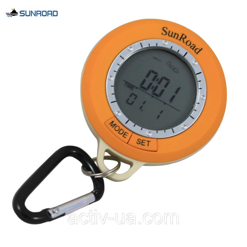 Цифровой компас SunRoad SR108S (6 в 1): метеостанция, термометр, альтиметр, часы, компас, шагомер