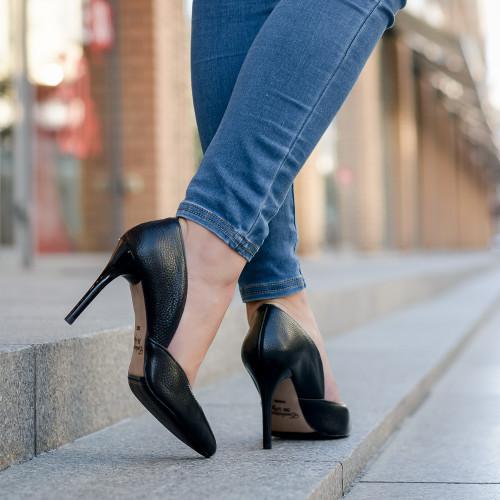 Классические туфли лодочки на каблуке 9 см кожа или замша