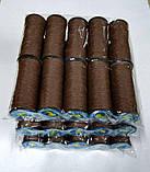 Капроновые нитки (Текс№375) для обуви, коричневые 10шт/уп, фото 2