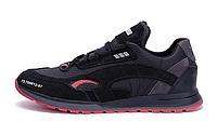 Мужские кожаные кроссовки Puma red Star черные, фото 1
