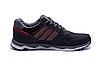Мужские кожаные кроссовки Adidas Tech Flex black черные