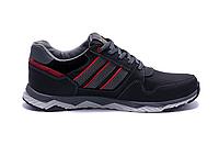 Мужские кожаные кроссовки Adidas Tech Flex black черные, фото 1