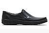 Мужские кожаные туфли на резинке 004 черные