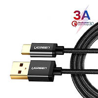 USB 3.1 Type-C дата кабель 1м QC3.0, 5/9/12В 3А Ugreen US174
