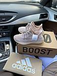 "Женские кроссовки Adidas Yeezy Boost 350 V2 ""Static"" Pink рефлективные 36-44.  Живое фото. (Реплика ААА+), фото 3"