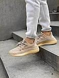 "Женские кроссовки Adidas Yeezy Boost 350 V2 ""Static"" Pink рефлективные 36-44.  Живое фото. (Реплика ААА+), фото 4"