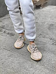 "Женские кроссовки Adidas Yeezy Boost 350 V2 ""Static"" Pink рефлективные 36-44.  Живое фото. (Реплика ААА+), фото 5"