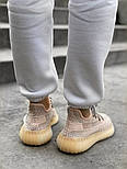 "Женские кроссовки Adidas Yeezy Boost 350 V2 ""Static"" Pink рефлективные 36-44.  Живое фото. (Реплика ААА+), фото 6"