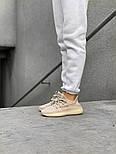 "Женские кроссовки Adidas Yeezy Boost 350 V2 ""Static"" Pink рефлективные 36-44.  Живое фото. (Реплика ААА+), фото 8"