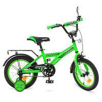 Велосипед детский Profi 14 дюймов T1436 Racer зеленый, фото 1