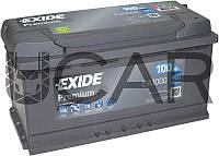 Exide Premium 100 Ah 900 A аккумулятор (-+, R), 2020 год (EA1000)