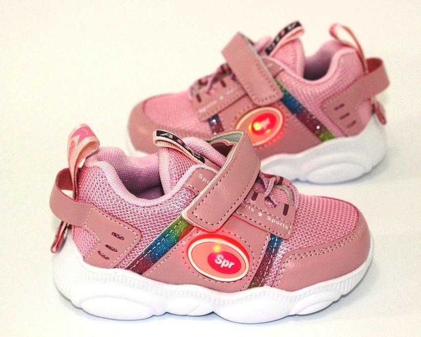 Розовые детские кроссовки 19-24