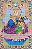 """Схема для вышивки бисером """"Пресвятая Богородица """"Живоносный источник"""""""""""