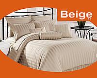Комплект постельного белья 100% хлопок (сатин) цвет коричневый, размер Евро