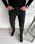 Мужские джинсы Сноуп черные осенние весенние. Живое фото, фото 3