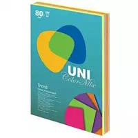 Цветная офисная бумага UniColor Neon Mix (4 цвета по 50 листов)  А4 80г/м2 250л