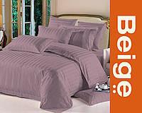 Комплект постельного белья 100% хлопок (сатин) цвет сиреневый, размер Евро