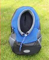 Рюкзак для собак Sport голубой
