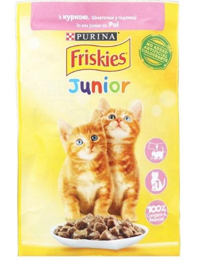 Purina Friskies Корм для котят. Курица в подливе, 85гр