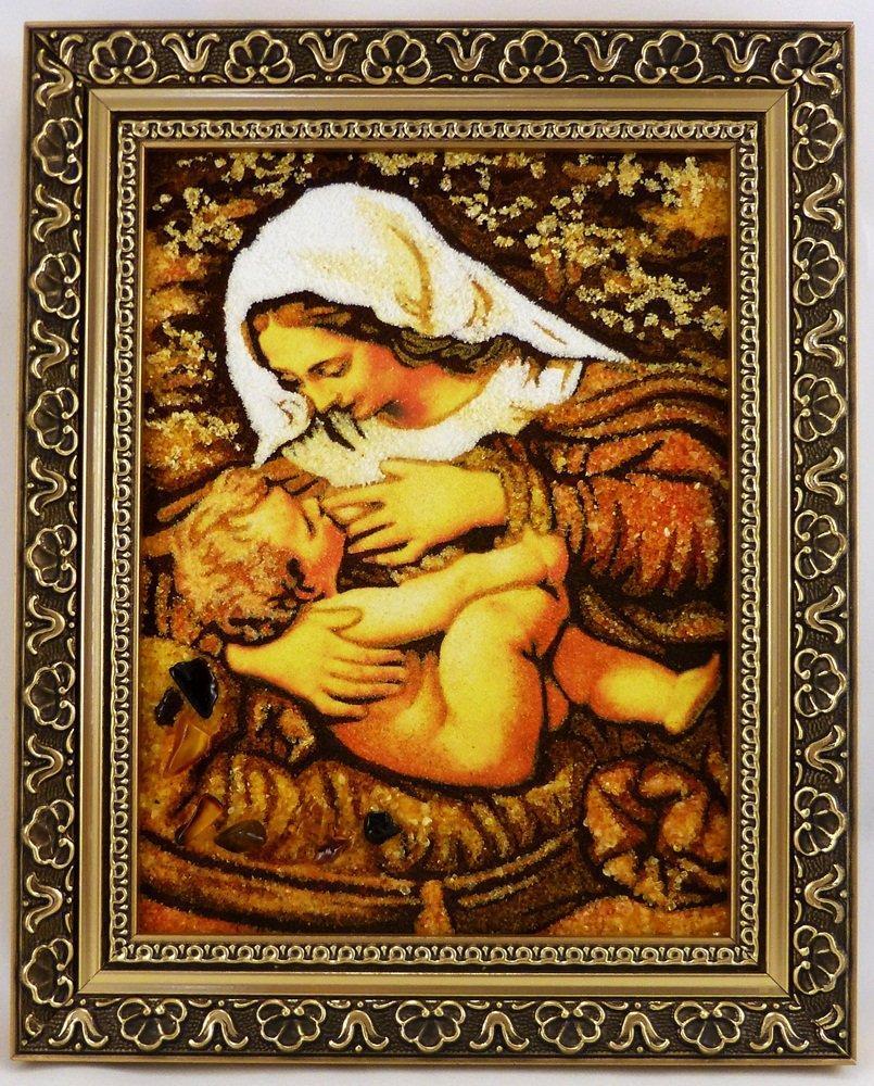 Кормящая і-101 Икона Божией Матери  Млекопитательница 15*20