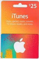 ITunes Gift Card 25$ (25 долларов) для App Store код сертификат карта пополнения счета iTunes Store и AppStore