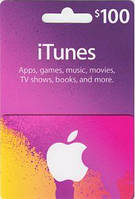 ITunes Gift Card 100$ для App Store код сертификат карта пополнения счета 100 долларов iTunes Store и AppStore