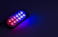 Сигнальные LED WARNING LIGHT/12LED/18 Режимов/Сине-Красный/10v-30v